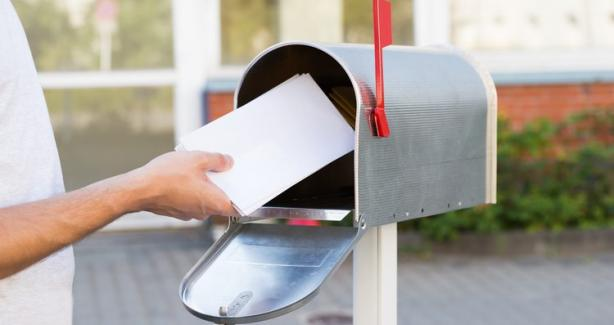 mailbox with letters